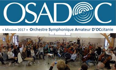 """Project visual """"Mission 2017 """" pour l'OSADOC ! (Orchestre Symphonique Amateur D'OCcitanie)"""
