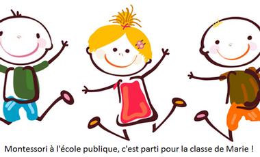 Visueel van project Montessori à l'école publique, c'est parti pour la classe de Marie !
