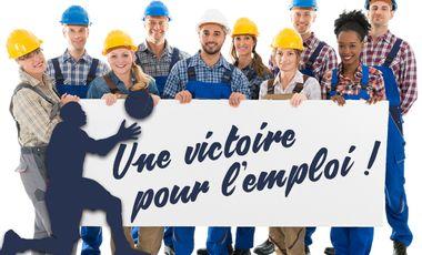 Project visual Une victoire pour l'Emploi