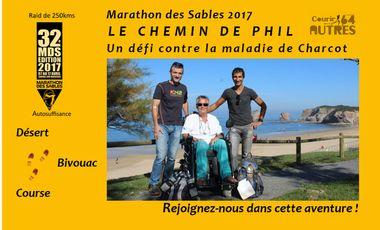 Visueel van project Marathon des Sables 2017 – Le chemin de Phil… Un défi contre la maladie de Charcot (SLA) !
