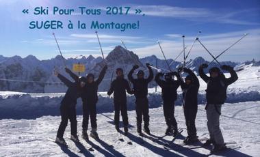 """Visueel van project """"Ski Pour Tous 2017"""", Suger à la Montagne!"""