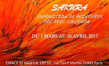 Visuel du projet SAKURA 1ère Exposition à Paris d'Eric Couthon