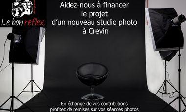 """Visuel du projet Création d'un nouveau studio photo """" Le bon reflex """""""