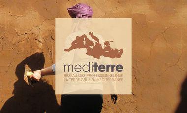Visueel van project MediTERRE,   un site internet pour le réseau de la construction terre méditerranéen.