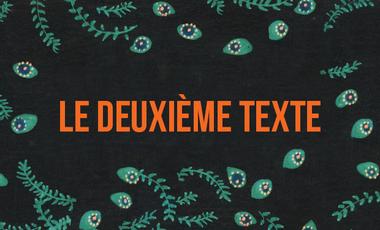 Visueel van project Le deuxième texte