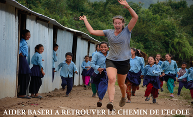 Project visual Aider Baseri à retrouver le chemin de l'école !