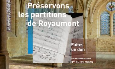 Visueel van project Préservons les partitions de Royaumont