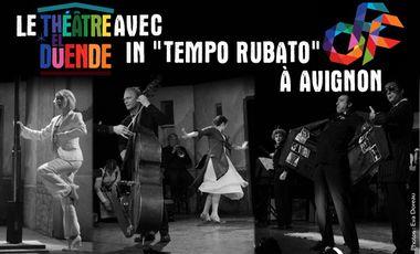 """Project visual Le Théâtre El Duende au Festival d'Avignon avec """"In Tempo Rubato"""""""