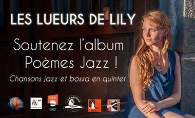 """Visueel van project Album """"Poèmes Jazz"""" des Lueurs de Lily !"""