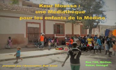 Visueel van project Keur Moussa : une médiathèque pour les enfants de la Médina
