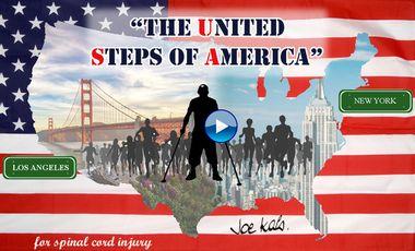 Visueel van project JOE KALS, paraplégique : 5400 km de NY à LA