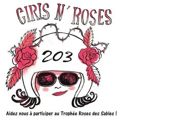 Project visual Équipage Girls'n roses. Aidez nous à participer au rallye Roses des sables!