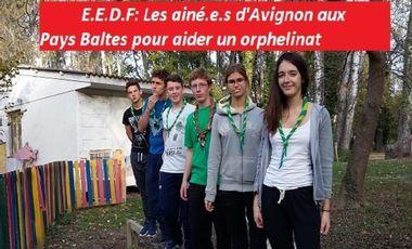 Visueel van project E.E.D.F: Les ainé.e.s d'Avignon aux Pays Baltes pour aider un orphelinat