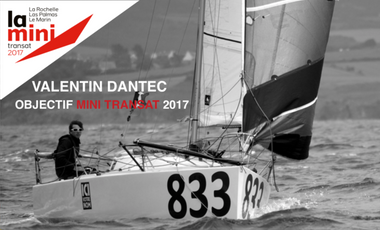 Visueel van project Valentin Dantec - objectif course au large en Mini 6.50