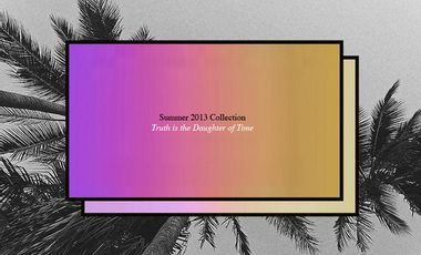 Project visual MAMAMA Summer 2013 Collection