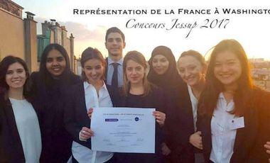 Project visual Participation de la France à Washington au Concours JESSUP 2017