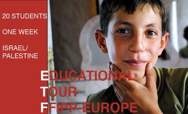 Visuel du projet FFIPP-Europe Educational Tour to Israel/Palestine