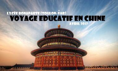 Project visual Voyage éducatif en Chine (Lycée Bonaparte Toulon)