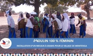 Project visual Moulin à grains 100 % féminin