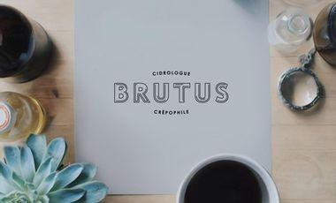 Project visual Brutus, 1er Bar à Cidre de Paris et Crêperie moderne