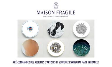 Visuel du projet MAISON FRAGILE, les assiettes en porcelaine Frenchtouch.