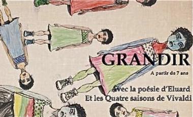 Visuel du projet GRANDIR  1ere mise en scène de Rebecca Bonnet (spect jeune public)