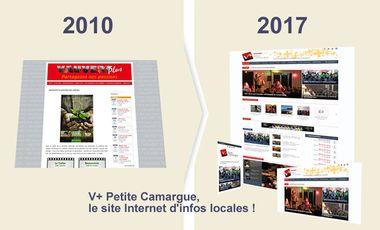 Project visual V+ Petite Camargue, le site Internet d'infos locales !