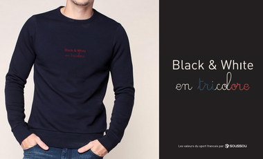 Project visual Black & White en Tricolore