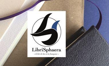 Visueel van project LibriSphaera, l'art de lire à la française.