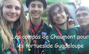 Project visual Les compas de Chaumont pour les tortues marines de Guadeloupe
