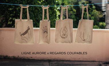 Project visual Ligne Aurore x Regards Coupables - sac en cuir - édition limitée