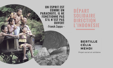 Project visual Départ solidaire direction l'Indonésie
