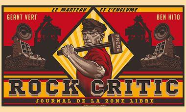 Project visual Rock Critic, le magazine de la zone libre