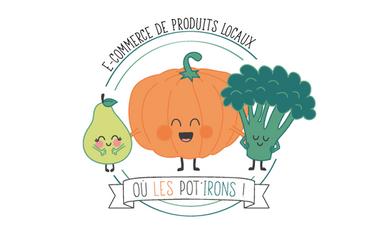 Project visual Où les Pot'irons! -  E-commerce de produits locaux, alimentaire et non alimentaire
