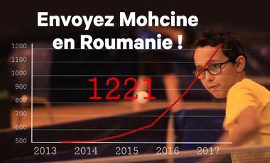 Visueel van project Aidez Mohcine à partir en Roumanie !