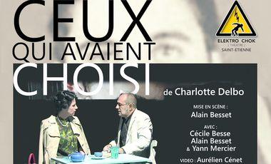 """Visueel van project """"Ceux qui avaient choisi"""" au Festival Off d'Avignon 2017"""