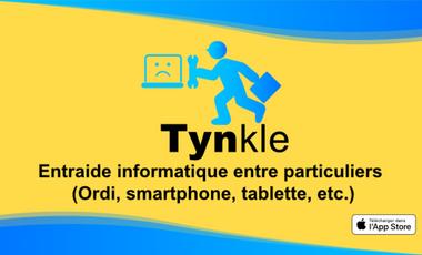 Visuel du projet Tynkle - L'appli  de dépannage Informatique entre particuliers (Ordi, smartphone & tablette, etc.) Désormais dispo sur iPhone