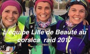 Visueel van project L'équipe « Lille de beauté » au Corsica Raid 2017.