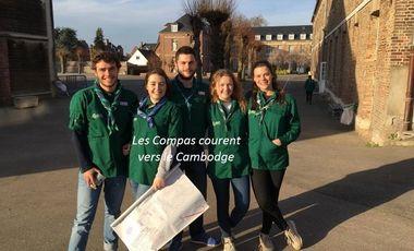 Visueel van project Les Compas courent vers le Cambodge