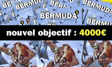 Project visual Le Projet Bermuda 9, le recueil annuel de BD en région lyonnaise.
