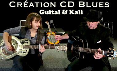 "Project visual Création CD Blues ""Blues transfer"". Guital & Kali"
