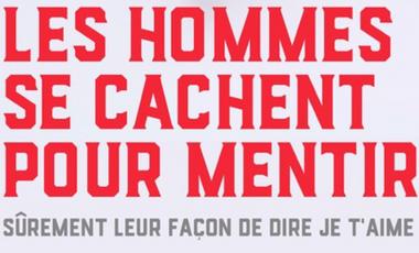 Visueel van project LES HOMMES SE CACHENT POUR MENTIR au Festival Off d'Avignon 2017