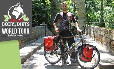 Project visual Tour du monde à vélo sur l'alimentation préventive du futur
