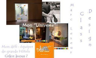 """Project visual Marc Leseur Glass Design, mon """"Univerre""""...."""