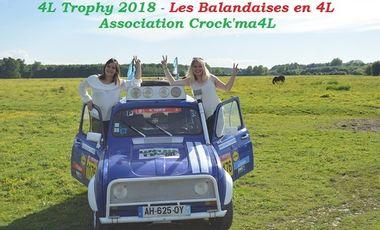 Project visual 4L trophy 2018 - Les Balandaises en 4L