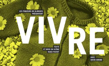 Project visual VIVRE au Festival d'Avignon