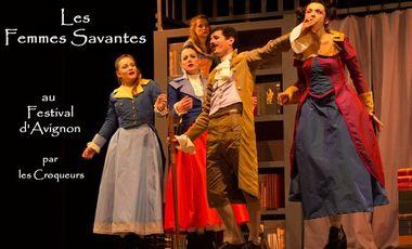 Project visual Les Femmes Savantes Festival d'Avignon Cie Les Croqueurs