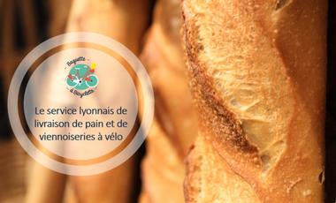 Project visual Baguette à Bicyclette livre l'aliment préféré des français chez vous !