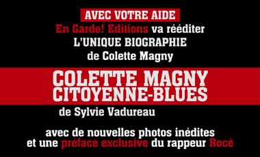 """Project visual Réédition de la biographie de Colette Magny """"Citoyenne-blues"""""""