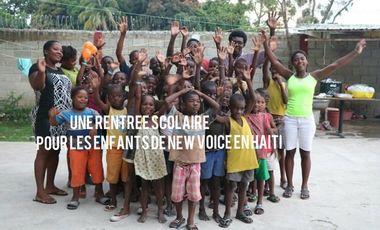 Visuel du projet Une rentrée scolaire pour les enfants de New Voice en Haïti